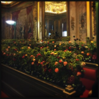 Floral installation in the Council Chamber by Mark Colle